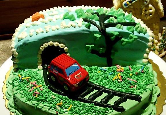 场景蛋糕制作