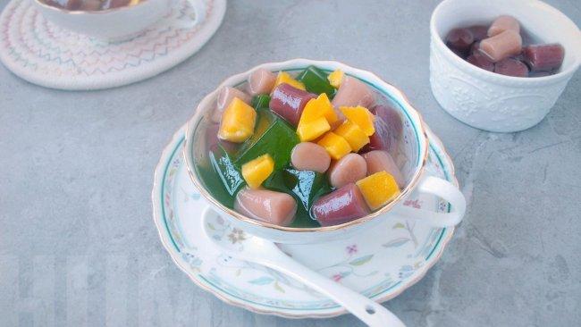 夏季东南亚风情,芋圆斑兰凉粉的做法