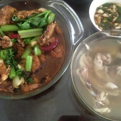 #一鱼两吃 # 红烧胖头鱼+ 鸡腿菇鱼头汤的做法 步骤5