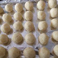 椰蓉球不开裂的秘诀/蛋白椰蓉球/的做法图解8