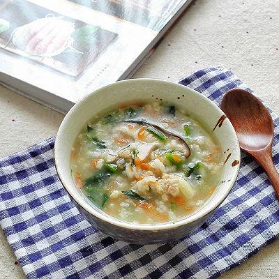 菠菜香菇肉末粥