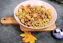 油豆腐炒豆芽的做法