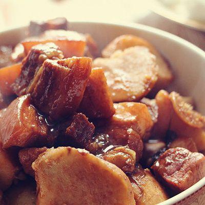 芋头烧肉 家常芋头红烧肉(备孕/孕妇食谱——补钙、杂粮)