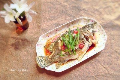 清蒸桂鱼—美味的桂鱼花