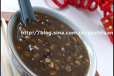 燕麦红糖紫米粥