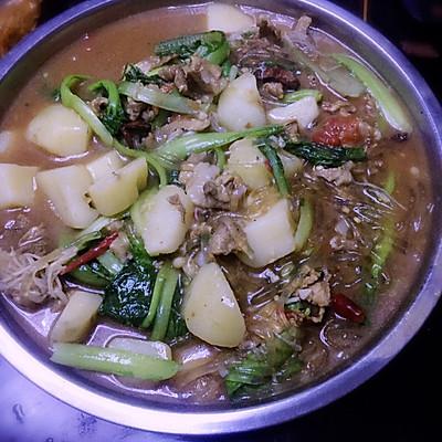 小白菜猪肉炖粉条