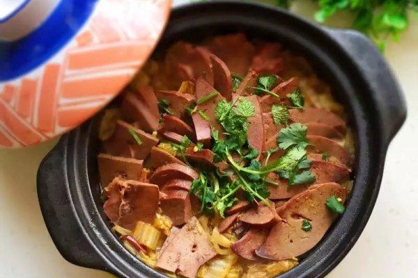 砂锅白菜炖羊肝#月子餐吃出第二春#的做法