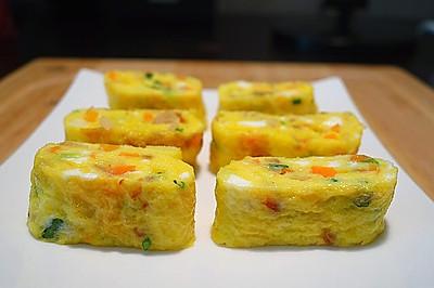 五彩斑斓的煎蛋卷#急速早餐#