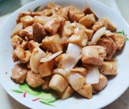 家常菜~杏鲍菇黑椒鸡胸肉粒