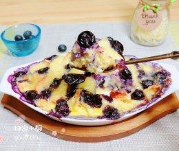 #夏日冰品不能少# 爆浆蓝莓芝士布丁(超劲爆)的做法