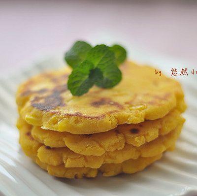 粗粮小零食——玉米面鸡蛋小饼