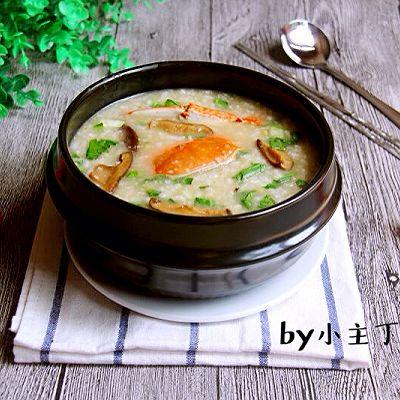 海鲜香菇青菜粥