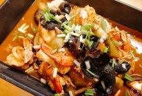 八珍海皇酱鲜虾煮白萝卜的做法