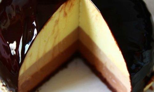巧克力三重奏蛋糕 的做法