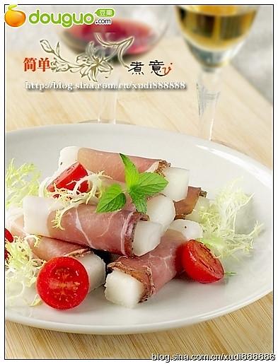 菜鸟都可以轻易搞掂的经典意大利菜--蜜瓜火腿卷的做法