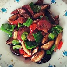 腊肠椒香菇
