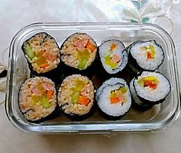 韩式泡菜寿司,三文鱼寿司的做法