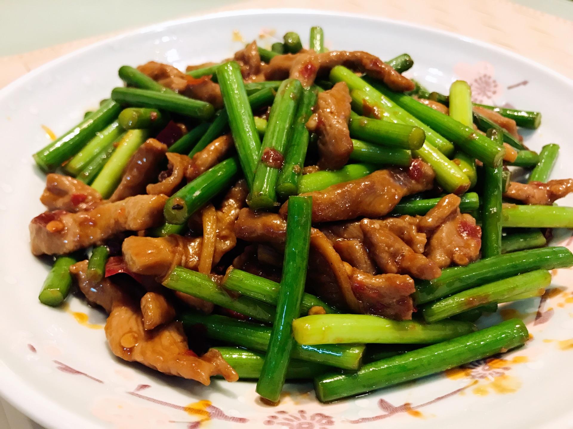 蒜苔肉丝的做法_【图解】蒜苔肉丝怎么做如何做好吃