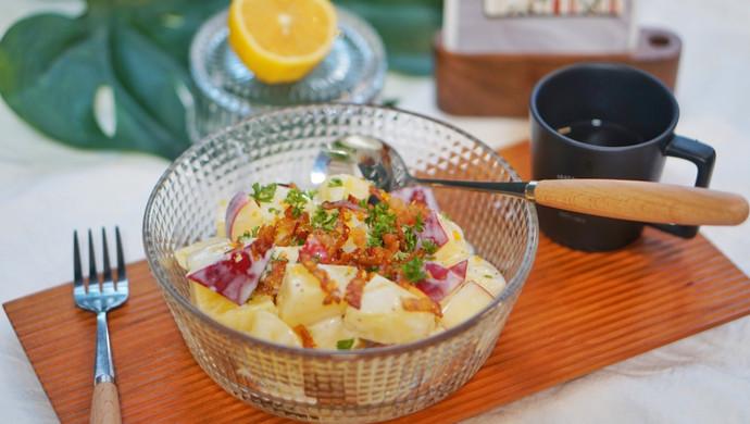 健康食谱|苹果酸奶土豆色拉,清爽美味