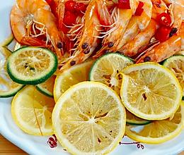 凉拌柠檬虾的做法