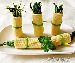香椿豆腐皮卷的做法