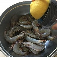 柠香盐烤虾#松下烤箱烘焙盛宴#的做法图解6