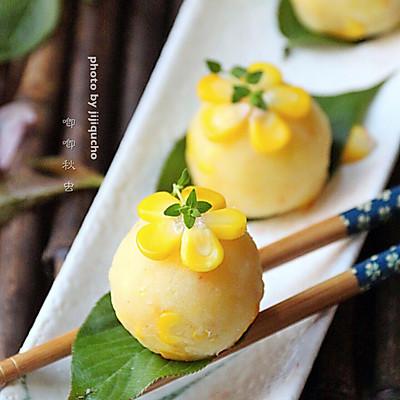 瘦身减脂的玉米土豆泥花球