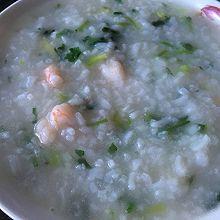 香菜虾仁粥
