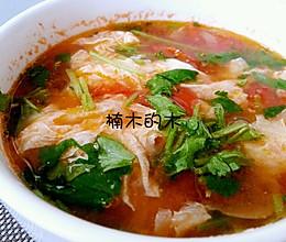 蕃茄鸡蛋汤(西红柿,番茄)~让一个鸡蛋看起来满满的大厨秘籍的做法