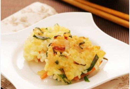 嘎嘣嘎嘣脆:蔬菜虾仁煎米饼的做法