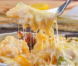 大虾墨鱼海参焗饭的做法