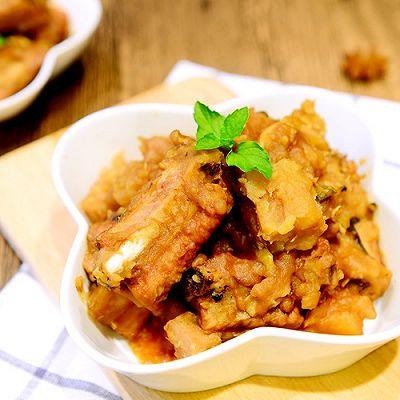 家常菜-荔浦芋头烧排骨(芋头烧排骨)