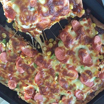 家庭简易版健康儿童批萨