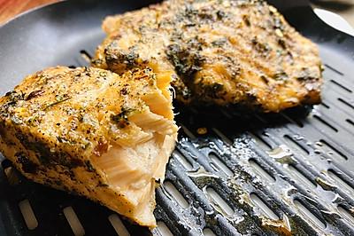 空气炸锅烤三文鱼