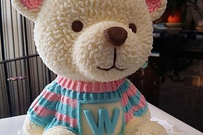 3D小熊蛋糕
