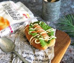 #爱好组-高筋#热狗面包的做法