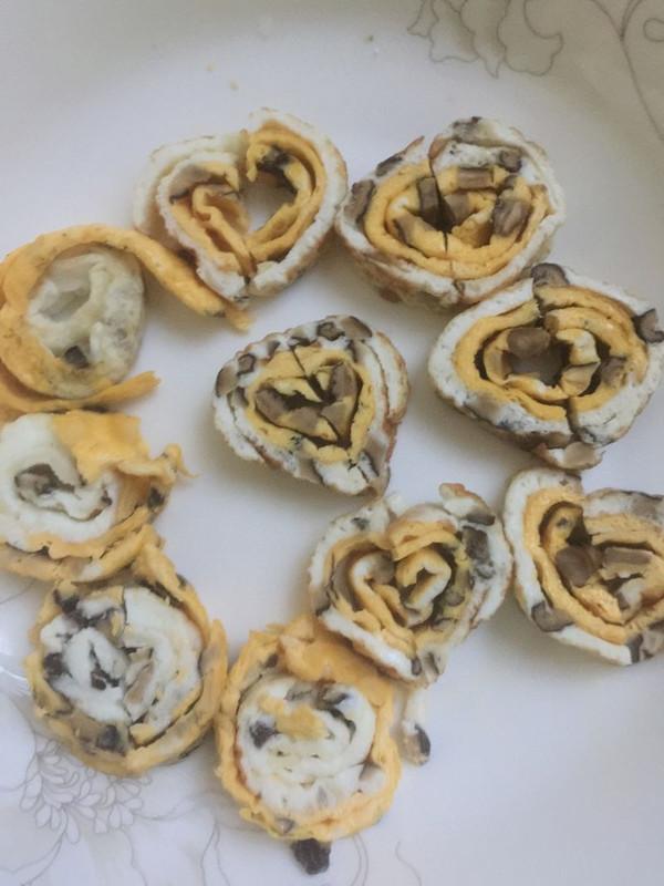爱心状的可爱早餐卷的做法