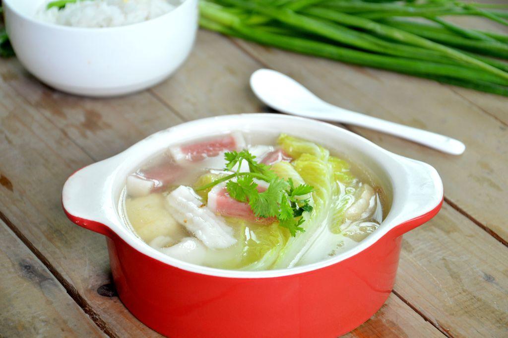 白菜豆腐(补钙)
