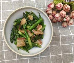 #做道懒人菜,轻松享假期#培根炒芦笋的做法