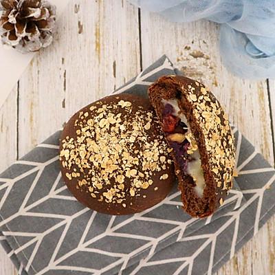 可可麻薯&紫薯软欧包~网红代餐包