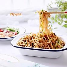 #花10分钟,做一道菜!#酸辣鸡丝凉面