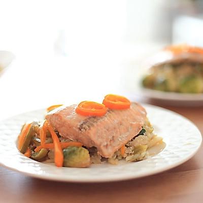 法式烤紙蒸魚