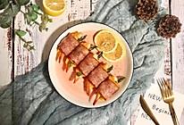 大虾芦笋芝士培根卷的做法