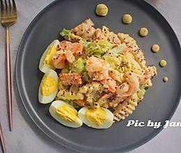 藜麦虾仁蔬果沙拉#中粮我买,真实惠才是食力派#的做法