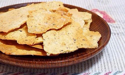 麦麸瓦片薄脆——低油低糖香脆停不下来的做法