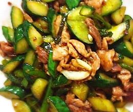 青瓜炒肉片的做法