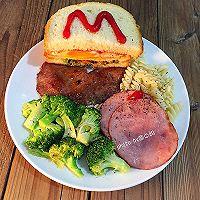 精美西式早餐三明治#百吉福芝士力量#的做法图解8