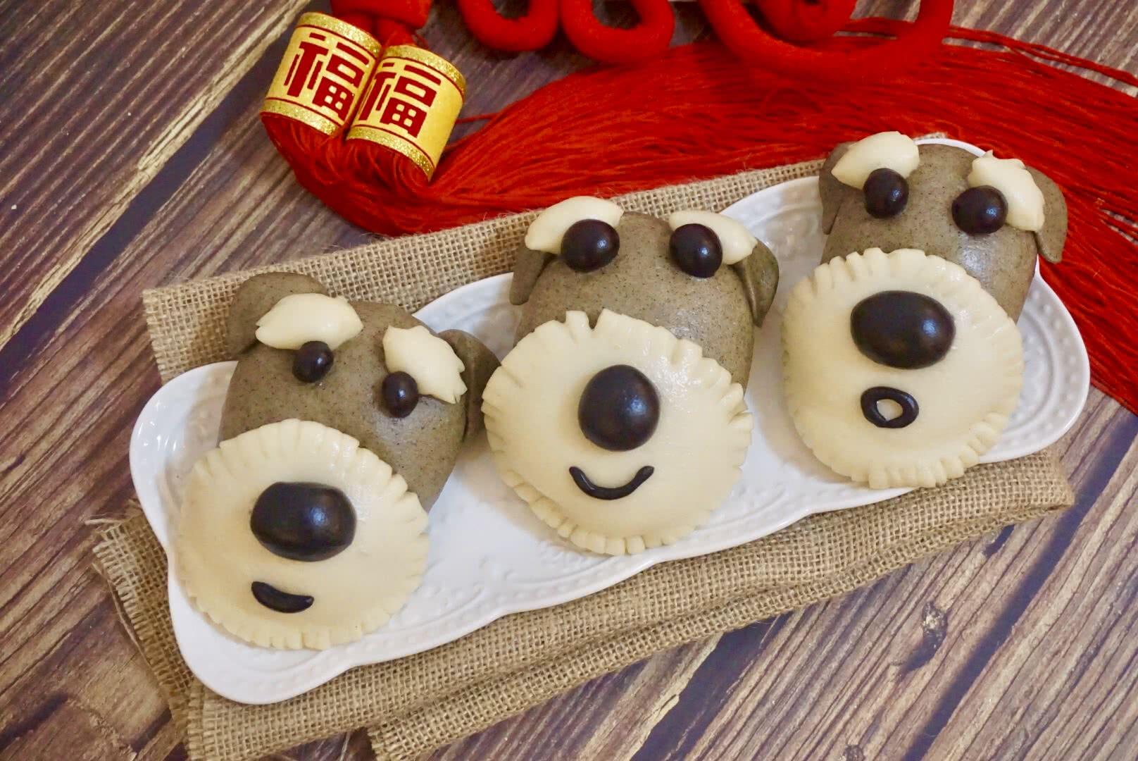 狗狗馒头_动物馒头之雪纳瑞狗狗馒头——新年乐分享