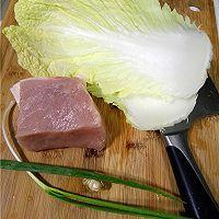 利仁电饼铛试用之白菜猪肉锅贴的做法图解1