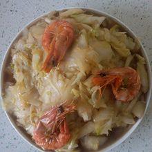 大虾炒白菜